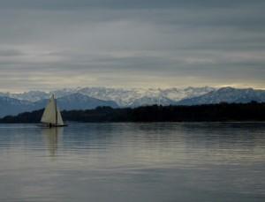 Segelboot auf dem Starnbergersee